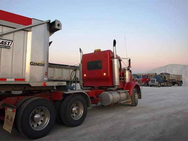Hribar Logistics truck with trailer