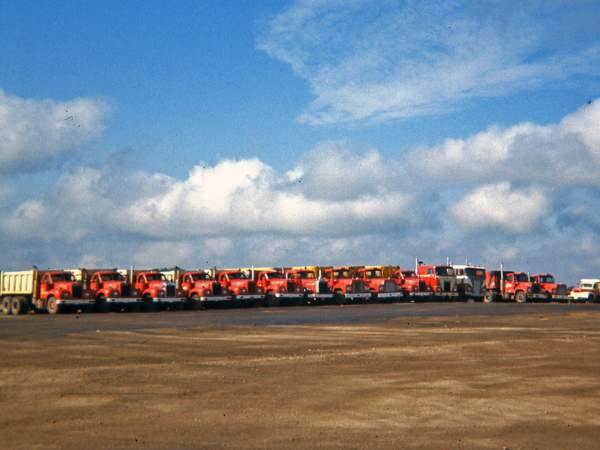 Hribar Logistics fleet - old photograph